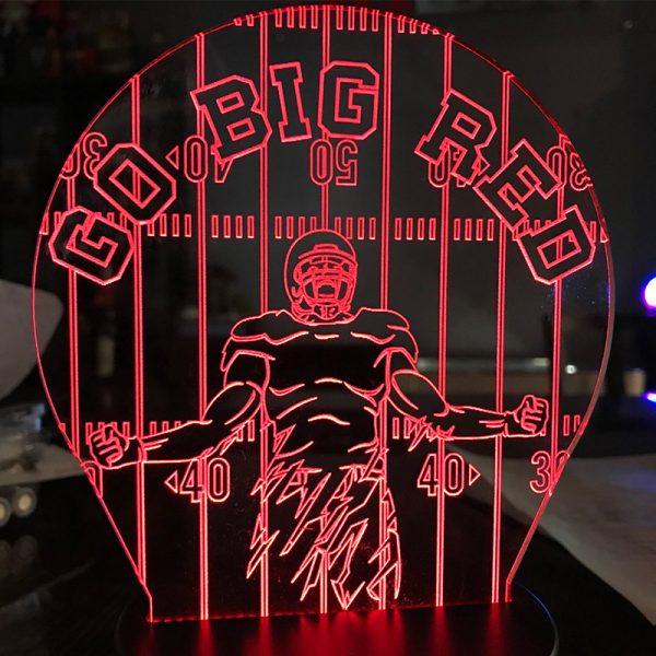 God Big Red LED Light